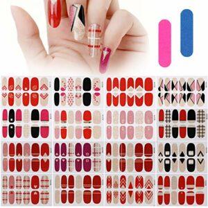 MWOOT 16 Feuilles Nail Art Sticker,Auto-adhésif Autocollants Décalcomanies pour Ongle,Nail Wraps Décorations Manucure pour Ongles