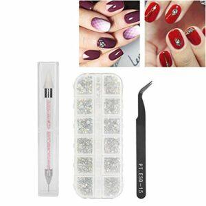 Nail Art Strass Pince À Épiler Conveninet Nail Art Dotting Pen pour la conception des ongles pour les amateurs d'art des ongles
