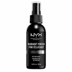 NYX Professional Makeup Spray Fixateur de Maquillage, Tenue Longue Durée, Spray de Finition, Léger, Formule Vegan, Fini Éclatant, 60 mL