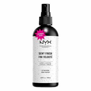 NYX Professional Makeup Spray Fixateur de Maquillage, Tenue Longue Durée, Spray de Finition, Léger, Formule Vegan, Fini Velouté, Format Maxi 180 mL