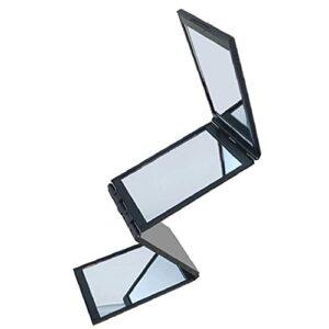 Ohomr 1pc Creative 4 Panneau Miroir de Maquillage Miroir Extendable Pliant Miroir Miroir Miroir Concise Portable pour Fille