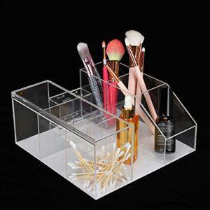 Organiseur de cils en acrylique avec pince à épiler pour la maison, le salon de beauté, transparent,
