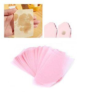 Papier de soie absorbant, résistant à l'humidité Papier buvard d'huile pour le visage respectueux de la peau Pâte primaire compacte + lin Emballé individuellement Pliable pour le maquillage
