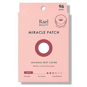 Patch de guérison Rael Acne Pimple Healing Patch – Couverture absorbante, Invisible, Tache à imperfections, Hydrocolloïde, Traitement de la peau, Autocollants faciaux, Deux tailles (96 Patchs)