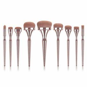 Pinceau de maquillage Fondation Golden Maquillage Fonds Beauty Tool de beauté Facile à porter (Handle Color : 9pcs makeup brushes)