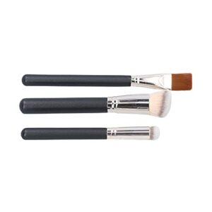 Poudre de maquillage, brosse anti-cernes portable 3 pièces facile à saisir pour fille pour salon de beauté