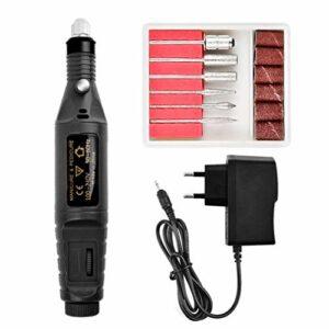 pour Une Utilisation Mains Libres Mini polisseuse à Ongles électrique Outil Dentaire d'équipement d'ongleBlackEU