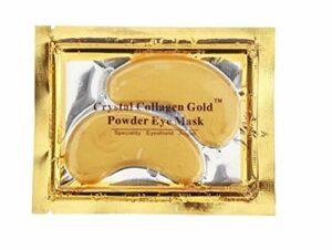Premium Crystal – Gold Collagène – 5 masques collagène pour les yeux – Bio – Anti ride, hydratation, soin de la peau – Patch avec huile essentielle de lavande, collagène, acide Haluronic
