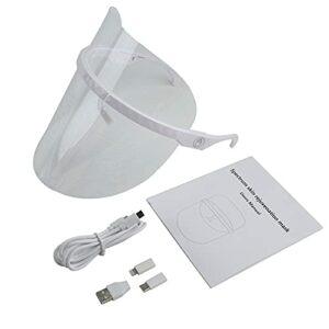 Richoyster Masque de photothérapie à LED 3 Couleurs Anti-acné et Anti-Rides Spa Instrument de Soin du Visage Instrument de beauté Outil de Soin de la Peau du Visage