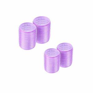 Rouleaux Cheveux, fer à Friser Velcro En Plastique Bricolage Pour Cheveux, Outils De Curling Pour La Coiffure Des Filles(4 Pièces)