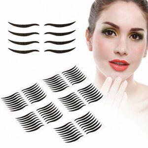 Ruban Invisible Double Paupière, 40 paires de ruban de paupières double noir autocollant bande de ligne des yeux autocollant outil de maquillage des yeux pour un lifting instantané