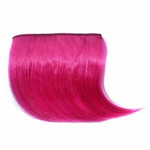 SDFDS Coiffure Femmes Coiffure Coiffures, Bang Hair Extension Piece Clip Douche Devant la Pince à Cheveux Bangs Edge Extension Extension 0411 (Color : B)