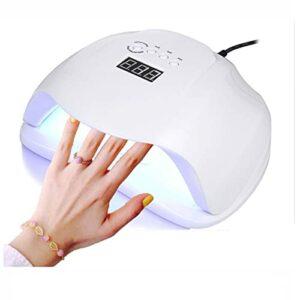Sèche-ongles UV à LED 54W, sèche-ongles à séchage rapide pour vernis à gel, détection automatique avec 4 minuteries LCD maison/lampe de durcissement de salon