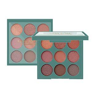 Ylzsx Palette Fard À Paupière Maquillage Yeux – Nude 9 Couleurs Shimmer Matte Ultra Pigmenté Ombre A Paupière