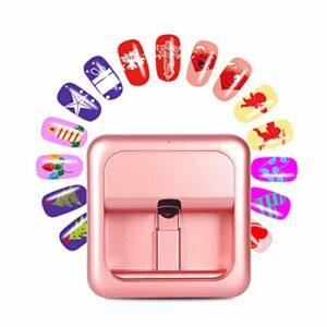 Yueyi Imprimante à Ongles Portable, Peinture d'ongle Intelligente Imprimante d'ongle Imprimante Belle d'ongle Imprimante Rose d'ongle