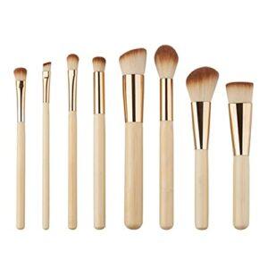 Zhang-StrongAn 17.5 * 10 * 2 cm 8 PCS Professionnel Golden Tube Pinceaux De Maquillage du Visage Quotidien Maquillage Outils Drop Shipping en Gros