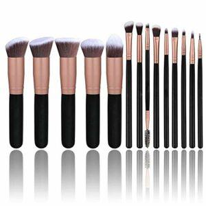 ZHDIN Pinceau de maquillage Geisha, pinceau ombreur de nez, pinceau contour, pinceau à poudre libre, pinceau à cils