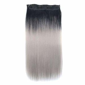 1 extension de cheveux longs raides résistants à la chaleur Accessoires Fashionista inclus