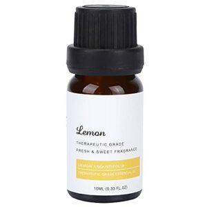 10 Ml D'huile Essentielle de Citron, Huile Naturelle de Parfum de Fruits pour le Massage avec Diffuseur de Spa, Huile de Massage pour la Massothérapie et Huile de Massage Relaxante pour la Peau Sèche