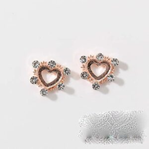 10 pièces cadre coréen charmes creux losange 3D or métallisé décorations d'ongles charmes pierres pour manucure accessoire pour ongles-blanc crème