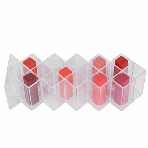 16 Espace Rouge à Lèvres Support Acrylique Transparent Rouge à Lèvres Boîte de Rangement Brillant à Lèvres Présentoir Support Organisateur