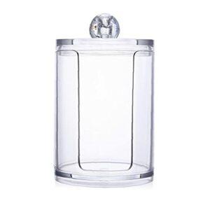 1pc Qtip Porte-distributeur salle de bains claire Jar Organisateur essuyant des bâtons, Q-tips, maquillage Tapis de stockage (Disque de coton Organisateur), Daily Necessities