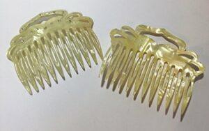 1x einst angulaire Peigne env. 8x 6cm Fabriqué avec des pierres de strass dentaire Fente