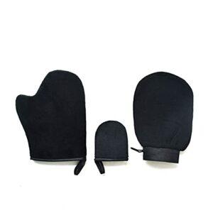 3 pièces gant de gommage gant de gommage magique exfoliant gant d'élimination du bronzage autobronzant crème nettoyante pour le corps mousse applicateur autobronzant