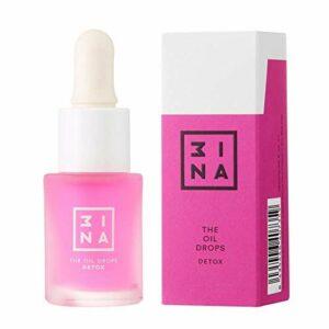 3INA Maquillage Sans Cruauté – Vegan – The Oil Drops Detox 605 – Sans Parabens – Soin Visage Huile – Serum Visage – Hydratant – Antiage – Rajeunissant – Nourrisant – 15 ml