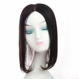 4 'X 4' Volume de Cheveux attaché à la Main Postiche Topper de Cheveux Humains pour éclaircir Les Cheveux dans Les Accessoires de Maquillage de la Couronne