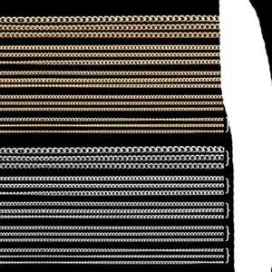 50/100 cm 0.8-2.0mm Or Argent Noir chaîne à ongles Mode métal Minuscule Chaîne Conseils Nail Art Décorations Bijoux À Bricoler Accessoires-50cmSilver-1.0mm