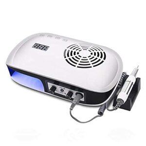 72W Air Nail Fan Sèche-Cheveux pour Vernis à Ongles Air Nail Dryer pour Les Mains et Les Pieds à la Maison et au Salon – Blanc
