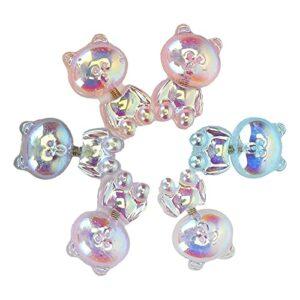 Accessoires d'ongles d'ours 3D, décoration d'art d'ongle d'ours de peau sans égratignure pour la maison pour la boutique pour la vie pour les ongles de bricolage