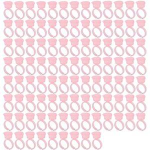 Anneaux de tatouage tasses, 100 pièces anneaux d'encre de tatouage tasses support de Pigment Extension de cils de sourcil accessoires de Microblading