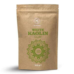 Argile Kaolin Blanc – 100g – Poudre d'Argile de Kaolin Blanche – Pure et Naturelle – Argile Blanche pour Visage, Cheveux – d'Argile Blanche Poudre pour Masques et Gommages – Purifiant pour la Peau