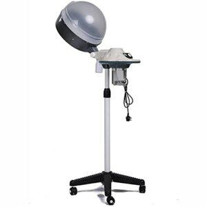 ASEDF 650W Stand up Salon Steamer Steamer, Sèche-Cheveux Couleur Processor pour Traitement des Cheveux Barber Spa Tools Rolling Floor Base Plasticfeet