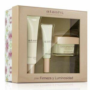 Atashi – Coffret de beauté – Thérapie Hydratation intense + Radiant Instant + Contour des yeux – 95 ml
