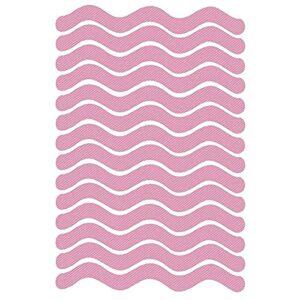 Autocollants pour ongles 24pcs / Set S Bandes antidérapantes en forme d'onde Stickers de douche transparente Bain Safety Safety Stores non glissé pour baignoire Décoration des ongles (Color : Pink)