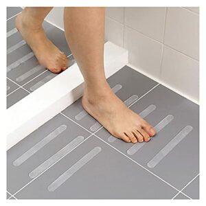 Autocollants pour ongles 24pcs / set Salle de bain Baignoire Stickers antidérapants Sols transparents Escaliers Status Sécurité Douche anti-glissade Décoration des ongles (Color : 24PCS)