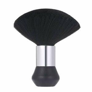 Balais à Cou Brosse à Cheveux, Anself Balais à Cheveux Coiffeur Brosse Doux Coussin de Visage Outil de Nettoyage pour Salon de Coiffure Barbier Accessoires Professionnel – Noir
