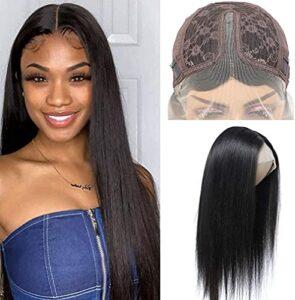 BLISSHAIR Lace Front Wig Human Hair Wigs Perruque Bresilienne Lace Wig Meches Cheveux Brésilienne Naturels Droit (20″)