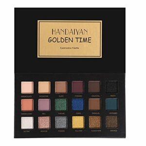Bluelover Handaiyan 18 Couleurs Oeil Ombre Palette Matte Miroitement Poudre Terre Fumée Yeux Maquillage – 01