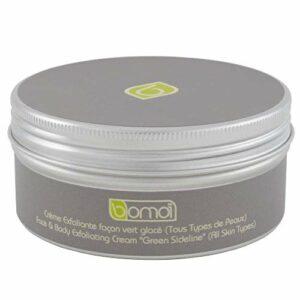 Bomoï Crème Exfoliante Façon Vert Glacé, Gommage Doux et Nutritif Pour Peaux Sensibles, Purifiant, Nettoyant et Hydratant, Bio, 150ml