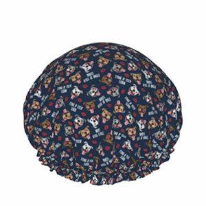 Bonnet de douche pour femme à cheveux longs – Imperméable et réutilisable – Motif lèvres