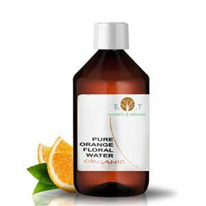 B.O.T cosmetic & wellness Lotion Eau Florale Organique d'Orange Douce Hydrolat 100% Pure pour Peau Sensible 500 ml