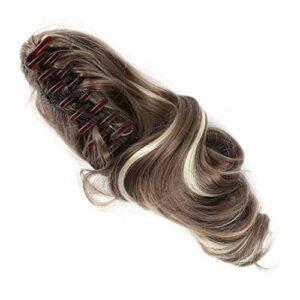 Botreelife Women Clip en Perruque Frisée Perruques Multicolore Synthétique Extensions de Cheveux Accessoire De Soins Des Cheveux (9AH613)