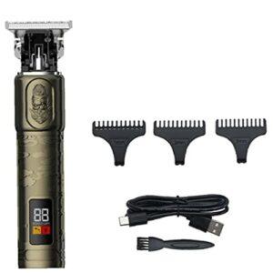 Bravolune Tondeuse À Cheveux Trimmer T Contour Sans Fil Outliner Barbe Rasoir Toilettage Chauve Kit Pour Les Hommes Barbershop T9 Style3