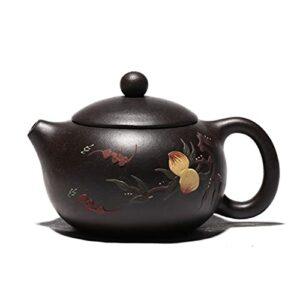 CAIZHIXIANG 200ml Yixing Violet Argile Theapots Pattern Pêche Xishi Tea Pot Beauté de Beauté à la Main