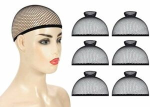 Cap de Perruque,6pcs Casquettes de perruque, Perruque Nylon Wig Cap,casquettes de perruque hautement extensibles résille à cheveux en maille élastique