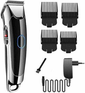 Chariots élévateurs pour les hommes Clippers cheveux professionnel for Set Men Tool, étanche silencieux rasoir rechargeable sans fil à tête blanche Fader Barbe cheveux Shaver corps Trousse de toilette